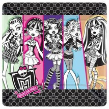 """Monster High 10"""" Lunch Dinner Plates 8 Per Package Birthday Party Supplies - $5.53"""