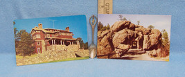 VINTAGE SOUVENIR SOUTH DAKOTA SPOON & 2 POSTCARDS - $9.89