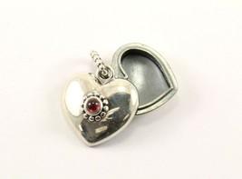 Vintage Pandora Heart Shaped Pink CZ Heart Locked Pendant 925 Silver PD ... - $69.99
