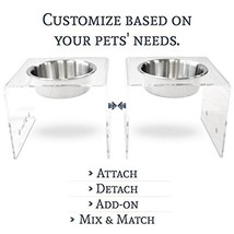 PetFusion Elevated SinglePod Magnetic Dog Feeder [Acrylic w/Embedded Mag... - $80.96