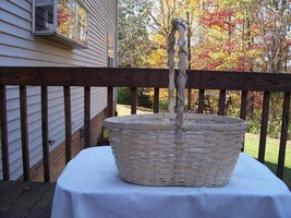 Ivory Basket with plastic liner Oval opening  14 x 8 x 6  ½ - $12.99