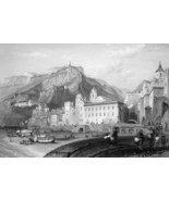 ITALY View of Amalfi - 1864 Fine Quality Print Engraving - $49.50