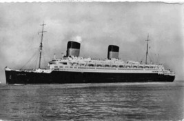 Liberte Ocean Liner Ship CGT French Line Trans Atlantic 1956 Real Photo ... - $7.43