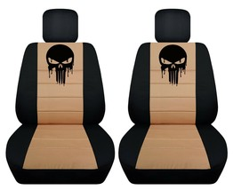 Front set car seat covers fits 2008-2020 Chevy Silverado  with punisher design - $99.99