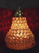 BIG Brass Akhand Diya Diamond Crystal Deepak Dia Akhand Jyot,Magical Lan... - $55.84