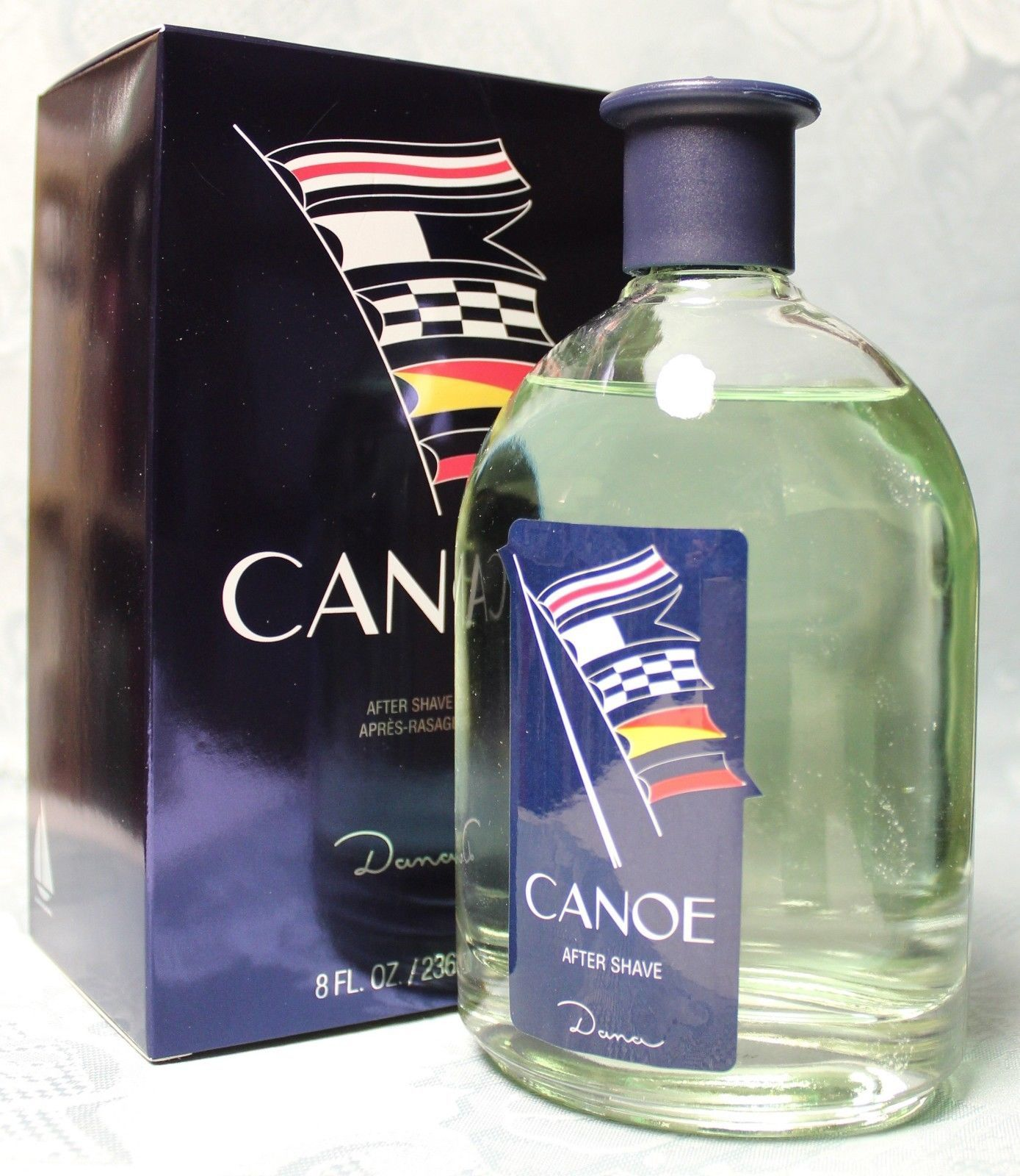 Canoe By Dana 8oz /240ml After Shave SPLASH (Old Discontinued Packing)