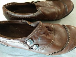 Womens Shoes Clarks Size 5 UK Synthetic Brown Shoes - $28.75
