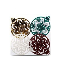 Black Friday Gifts Hanging Balls Hollow Out Glitter Snowflake Christmas ... - $20.99
