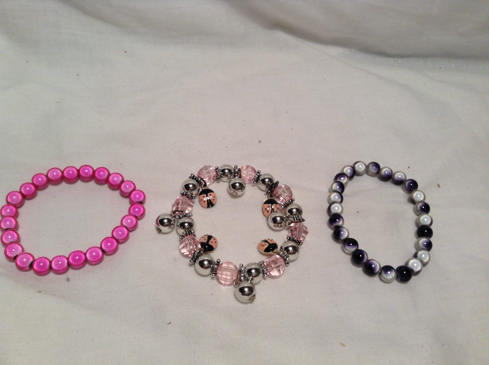 NEW Set of 3 Multicolored Beaded Bracelets