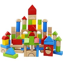 Lewo Wooden Building Blocks Games Construction Toys Toddlers Stacking Bl... - $24.26