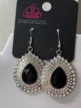 Paparazzi Black Onyx and Rhinestone Earrings  - $2.75