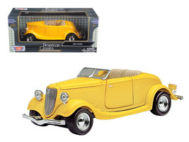 1934 Ford Coupe Yellow 1/24 Diecast Car Model by Motormax - $30.46