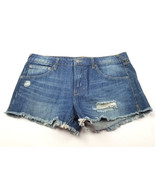 Life in Progress Womens Jean Short Shorts Size 30 Distressed - $10.74