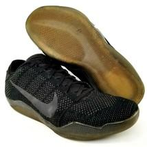 Nike Kobe XI 11 Elite Black Space Basketball Shoes Size 13 Mens Triple B... - $93.49