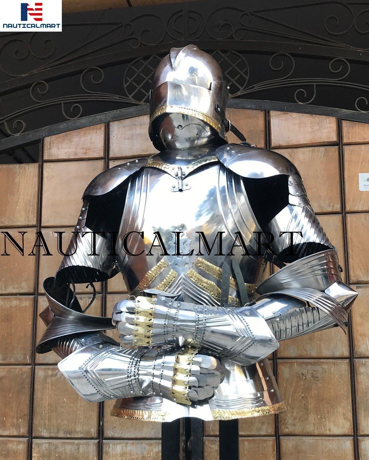 Iron Gorget Set Medieval Knight Crusader Roman Spartan Armour Steel Epic Gorget