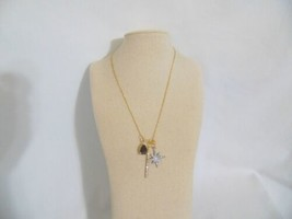 "Department Store 17""Gold Tone Quartz, Star, and Linear Charm Necklace HH... - $11.51"