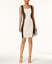 Sangria Studded Colorblocked Dress black/blush size 8 - $29.69