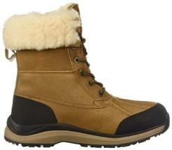 New Women's UGG Adirondack III Chestnut Waterproof Shearling Wool Boots US 10 image 2