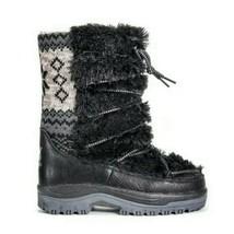 MUK LUKS Women's Massak Snowboots Fashion Boot Black - Size 6M Style# 16982 NEW - $70.13
