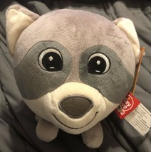 """NWT PlayTive Junior Round Raccoon Head Plush Toy 7"""" Diameter - $9.89"""