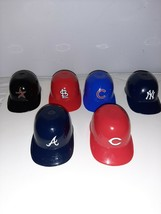 Lot of 6 Laich Mini Baseball Helmets Ice Cream Snack Bowls MLB Sports - $11.30