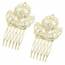 5 Pcs Gold Metal Side Comb Dunhuang Style Hairpin Topknot Hair Clip DIY Cosplay