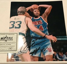 Derrick Coleman New Jersey Nets Signed Auto 8x10 Vs Larry Bird Photo COA... - £9.60 GBP