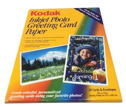 "Kodak 8.5"" X 11"" Inkjet Photo Greeting Card Paper 20 Card W/ Envelope-New Opened - $13.45"