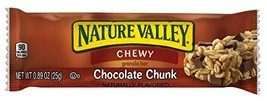 Nature Valley Chocolate Chip Chewy Granola Bar, 0.89-Ounce Bars Pack of 120
