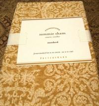 POTTERY BARN Sammie Tile Wheat Paisley Standard Pillow Sham 20x26 Linen / Cotton - $24.73