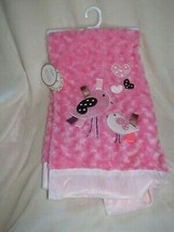 RN 118620 Lollypop Baby Girl Pink Brown White Chick Bird Heart Taggies Blanket - $69.29