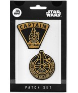 Star Wars Millennium Falcon Embroidered Patch Set of 2 NEW UNUSED - $9.74