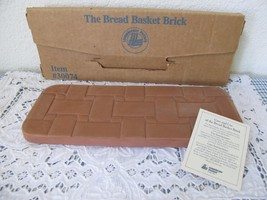 NIB Longaberger Pottery Bread Basket Brick Warm... - $14.01