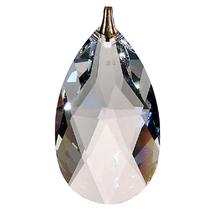 Crystal Oval Drop Keyring image 2