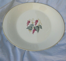 Mid Century Oval Serving Platter Leaf Berries Knowles China Vintage X-4041 USA - $24.86