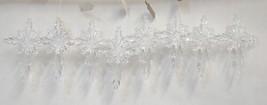 Roman 23886 Plastic Clear Snowflake Cross 4 Inch Christmas Tree Ornament 8 Set image 1