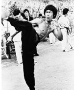 Bruce Lee Kick MM Vintage 11X14 BW Movie Memorabilia Photo - $13.95