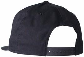 NEW LEVI'S MEN'S FLATBRIM EMBROIDERED SOLID BASEBALL SNAP BACK CAP HAT BLACK image 2