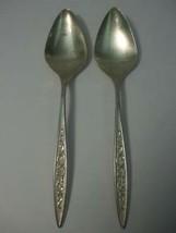 "2 Soup Spoons 7.25"" Esperanto 1967 Pattern 1847 Rogers Bros Silverplate ... - $7.87"
