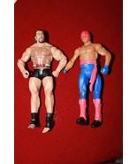 Lot of 2 WWE WWF WRESTLING ACTION FIGURES-DAMAGED FIGURES - $5.93