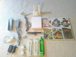 Nintendo Wii Sports White Console bundle with 6 games 2 controllers lots... - $65.45
