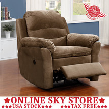 Upholstered Electric Recliner Chair Automatic Fabric Home Theater Cinema... - $302.99