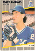 1989 Fleer MLB Baseball Trading Card - Mark Gubicza - Kansas City Royals... - $1.97