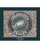Philadelphia Sports Mosaic Print Art using Player Photos from the Eagles... - $114.00
