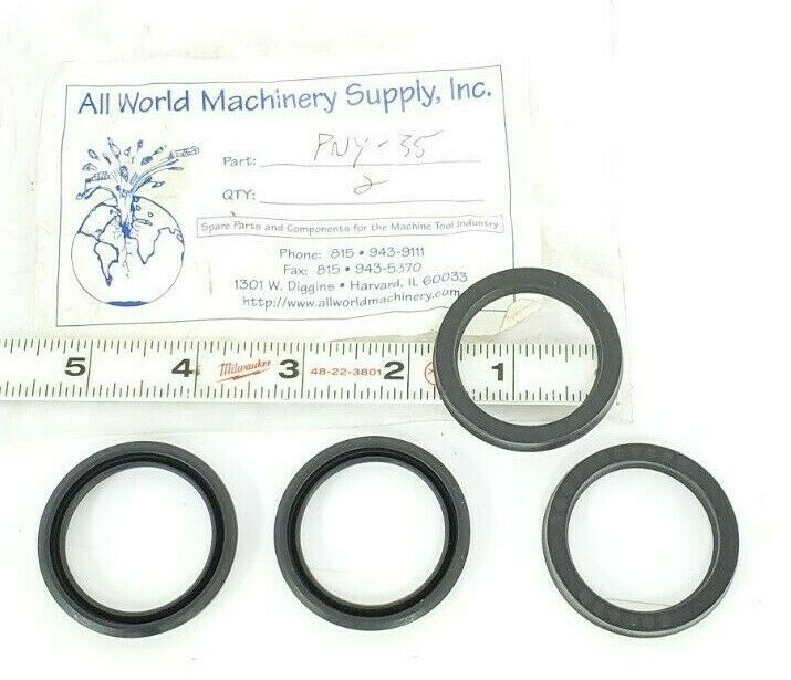 LOT OF 4 NEW ALL WORLD MACHINERY SUPPLY PNY-35 O-RING SEALS PNY35