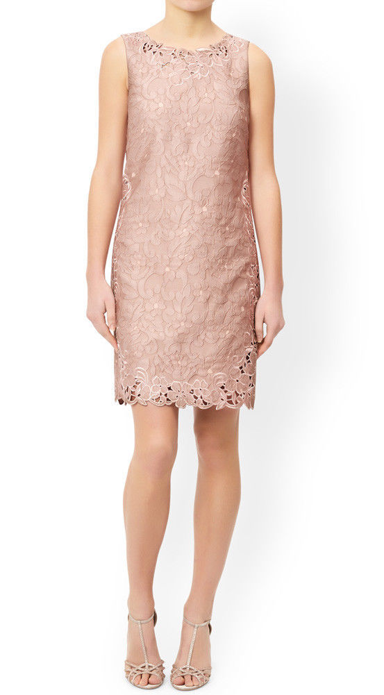 MONSOON Daisy Jacquard Dress Pink Size UK 12 BNWT