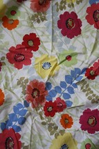 Tommy Hilfiger Floral Multi-Color Poppy Fitted Twin Sheet 100% Cotton - $15.84
