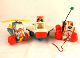 Fisher Price Little Snoopy Dog Mini Copter Pull Toys Chicco Jet Vtg 1970... - $19.79