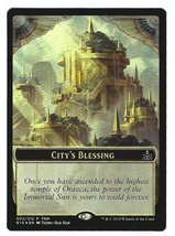 Magic the Gathering MTG Promo City's Blessing Elemental Foil Token Rival... - $7.95