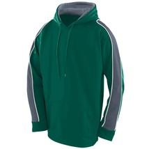 Augusta 5524 Youth Zest Hoody - Dark Green/Graphite/White - $26.11